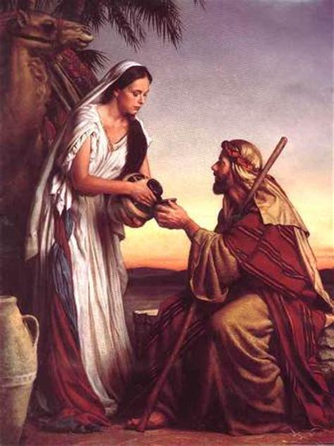 rebecca in the bible, '...and isaac loved her...'