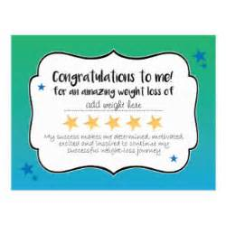 Weight Loss Certificate Template by Certificate Award Cards Zazzle