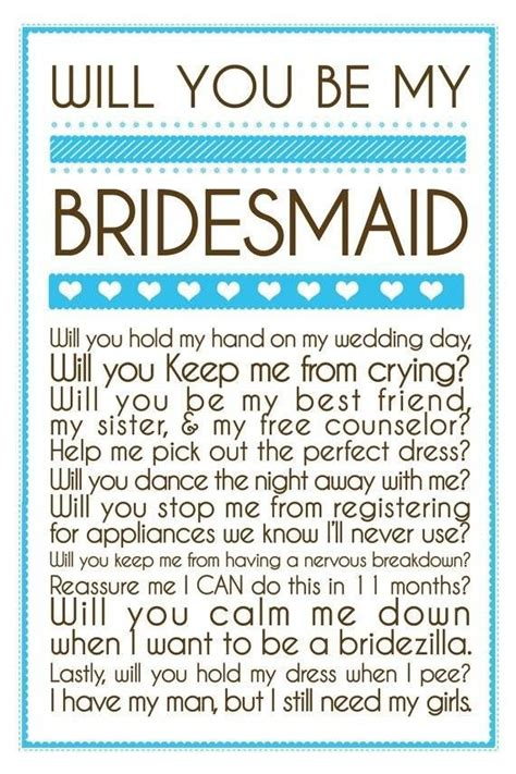 how to ask to be my will you be my bridesmaid onesimplegown