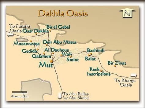 oasis map dakhla map oasis