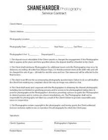 Contract   Shane Harder Photography