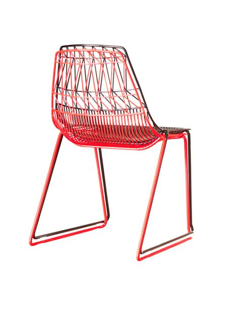 Colorful Recliner Chairs Colorful Wire Furniture 11 Fubiz Media