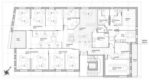 arri鑽e plan du bureau immeuble de bureau sol 233 cit 233 scop d architecture