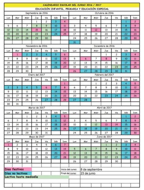 el calendario escolar de cantabria con una semana de