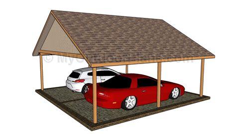 2 Car Carport Plans by Pdf Plans Car Carport Plans Storage Bed