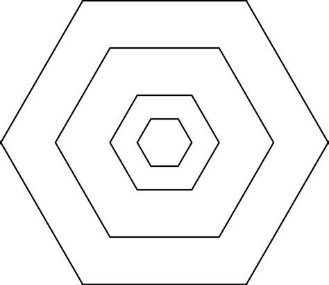 printable shapes hexagon best photos of hexagon shapes to print hexagon shape