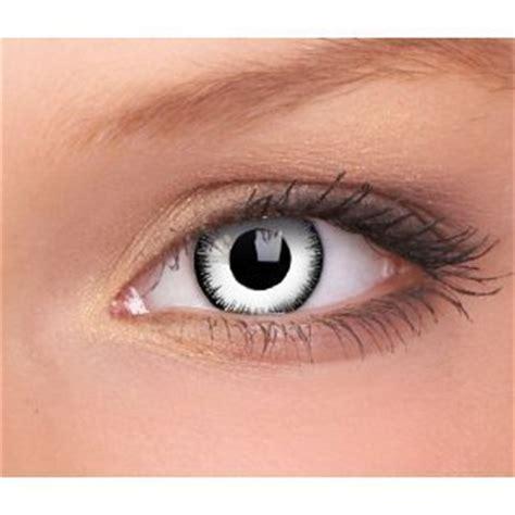 farbige weiße weisse lunatic crazy kontaktlinsen ohne