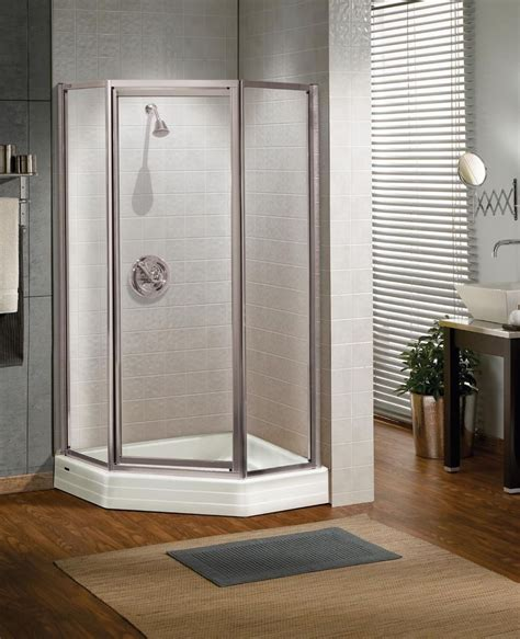 Shower Doors Ebay Maax 36 Quot X 36 Quot Silhouette Plus 3 16 Quot Glass Neo Angle Pivot