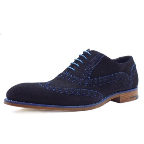 mens blue boots barker grant blue suede s modern brogues in blue
