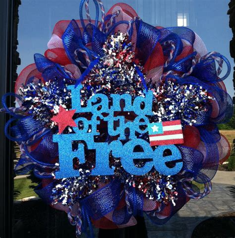 4th of july backyard decorations patriotic star fourth of july wreath by dziner doorz modern wreaths and garlands