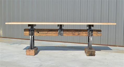 industrial bar height table post beam rustic industrial bar height table the