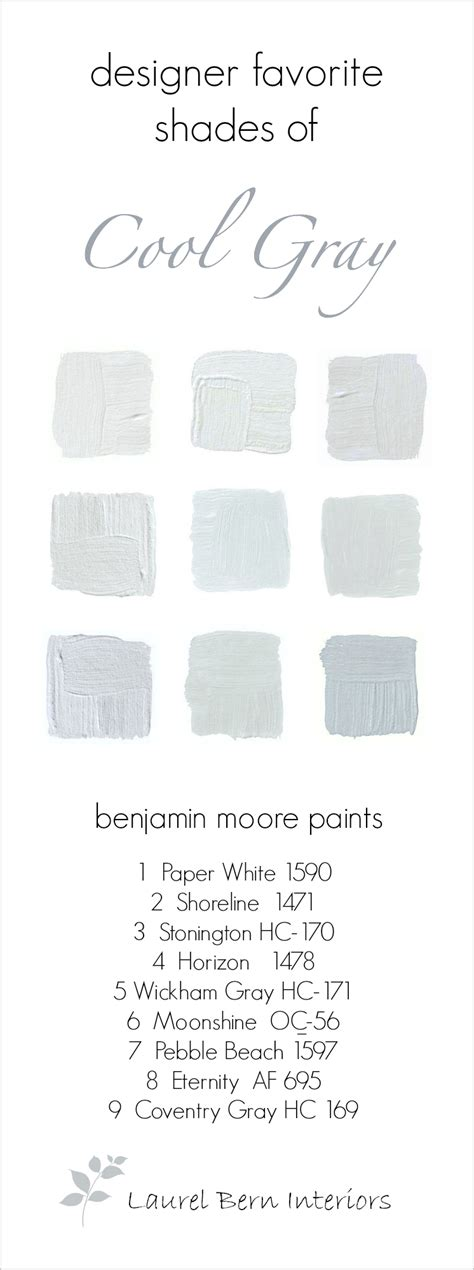 9 fabulous benjamin cool gray paint colors laurel home