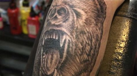 tattoo sessions mikeys sweet bear forearm tattoo