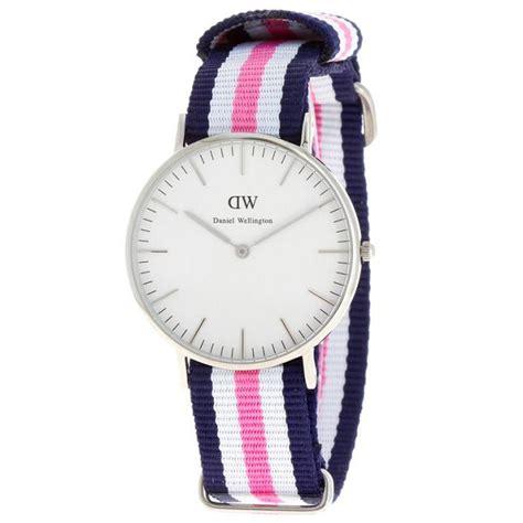 montre daniel wellington dw00100050 montre tissu nato bleue blanche femme sur bijourama