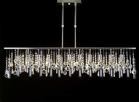 New Contemporary Rectangular Crystal Chandelier Modern » Home Design 2017