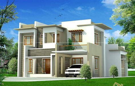 box model house design in 2400 sq ft homezonline