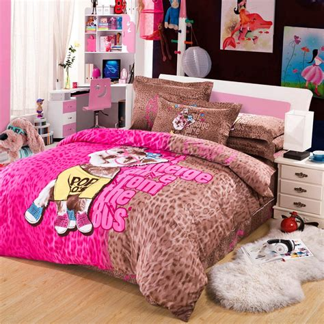 Pink And Brown Bedding Set Print Bedding Set King Size Pink And Brown Leopard Print Duvet Cover Set Cotton