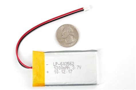 Battery Lythium Polymer 061045 updated product medium lithium ion polymer battery 1300mah 171 adafruit industries makers