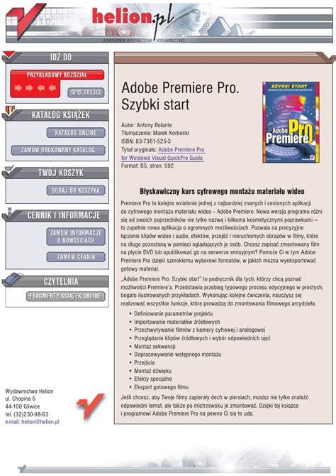 adobe premiere pro jak dodac napisy adobe premiere pro szybki start