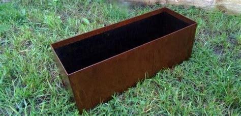Steel Planter Boxes by Corten Steel Planter Australia Outdoor