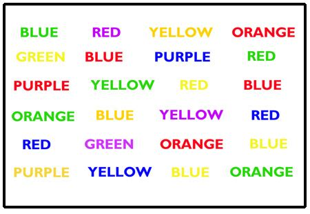 stroop color word test interactive brain teaser to test your concentration