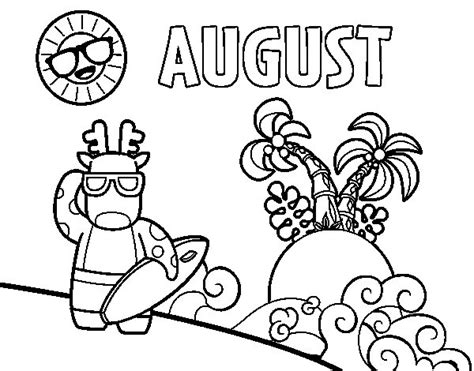 august color august coloring page coloringcrew