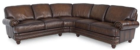 Traditional Leather Sectional Sofa by Futura Leather Westbury Leather Traditional Brown