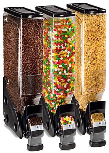 food dispenser clear bulk food dispenser black accented 5 gallon container