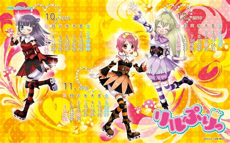 otogi calendar hime chen otogi chikku idol lilpri wallpaper 1177942
