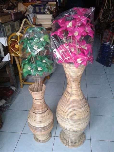Vas Bunga Rotan vas bunga rotan besar kerajinan rajapolah kerajinan