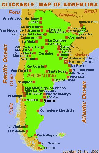 map of argentina with cities argentina and some more south america recap of