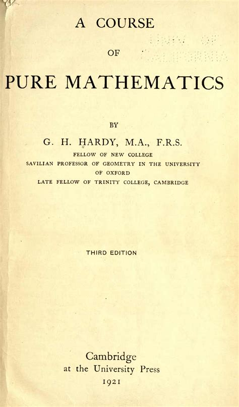 a course of mathematics books file a course of mathematics hardy g h godfrey