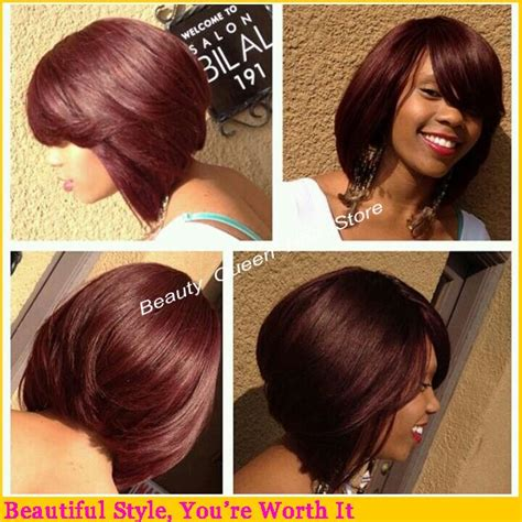 pretty bobs hairstyle hair style baby hair lace wigs human hair beautiful 99j color short bob wig lace front wig with