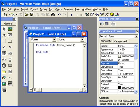 visual basic diagram writing visual basic code