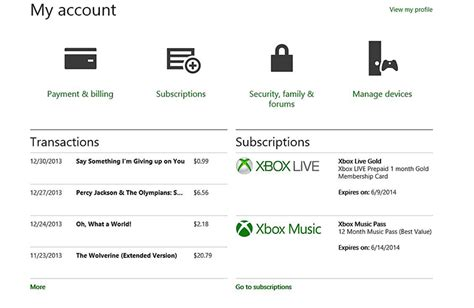 manage your microsoft account faq xbox one support xbox billing history xbox download history xbox live