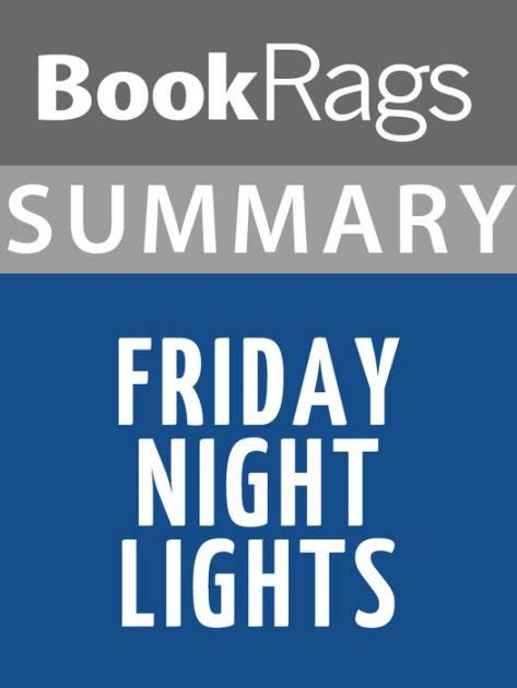 friday night lights sparknotes summary study guide friday night lights by bookrags