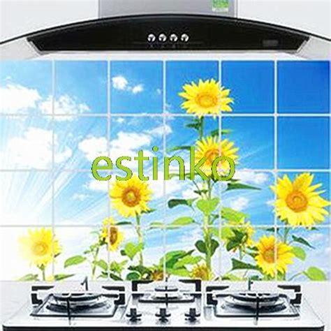 Wallsticker 60 X 90 Sunflower brand diy kitchen anti proof wall decals sunflower 60 90cm keep cleaning easy jpg