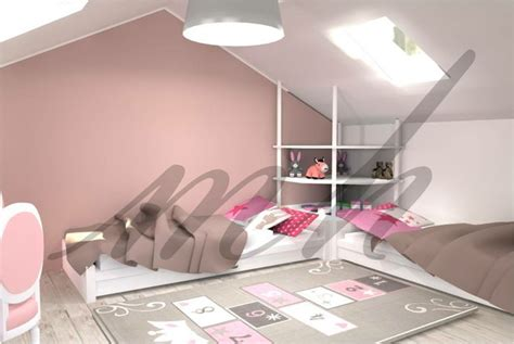 am駭agement chambre sous combles amenagement d une chambre de petites filles sous les