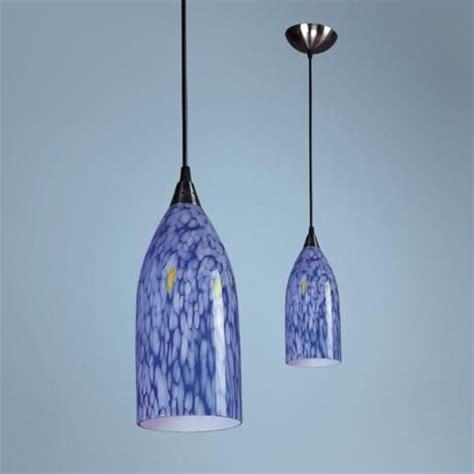 verona collection dazzling blue mini pendant chandelier