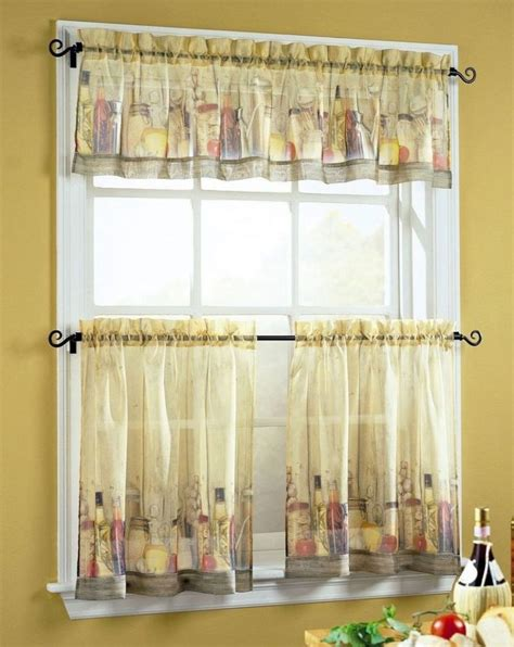 Kitchen Windows Curtains Kitchen Bay Window Curtain Ideas Dining Table The Middle Room Modern Kitchen Window Valance