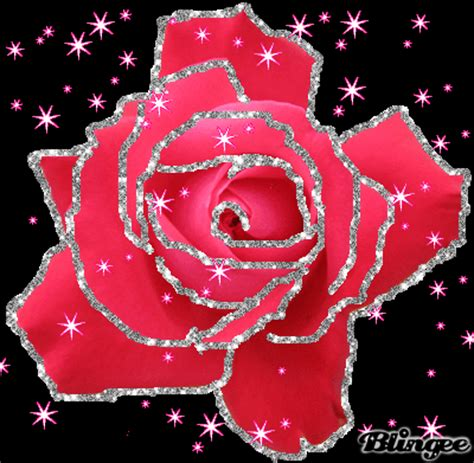 sparkling pink rose picture #104156743 | blingee.com
