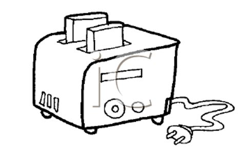 coloring pages of kitchen appliances royalty free cartoon clipart