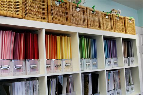 How To Store Craft Paper - craft room tour organizational storage ideas
