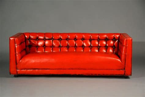 Re Leather Sofa Tufted Leather Sofa At 1stdibs