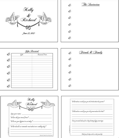 wedding guest book layout sle customized personalized wedding guest book alternatives
