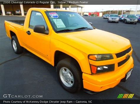 yellow 2006 chevrolet colorado ls regular cab medium