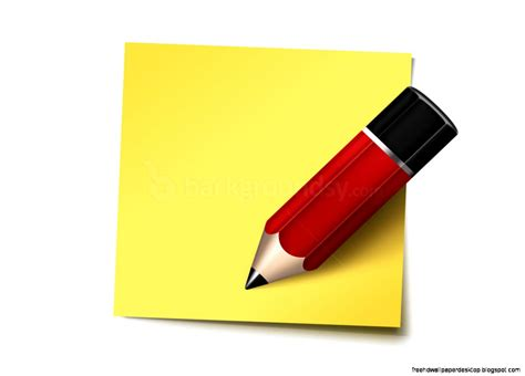 sticky wallpaper sticky notes pencil icon wallpaper free high definition