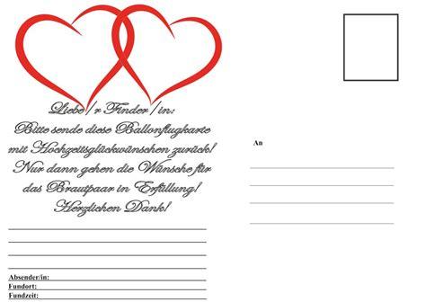 Postkarten Hochzeit by Ballonsupermarkt Onlineshop De Ballonflugkarten Hochzeit