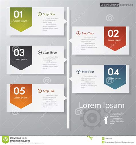 design clean number banners template timeline stock