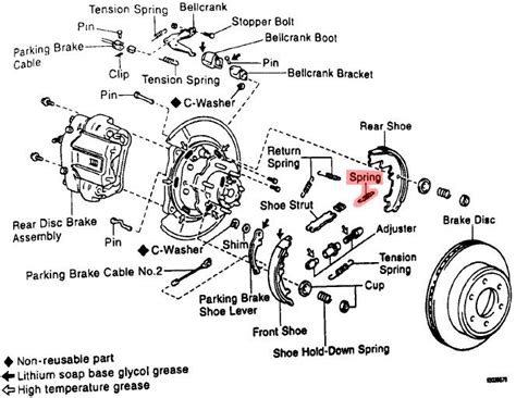 rear brake assembly diagram does anyone a diagram of the rear parking brake
